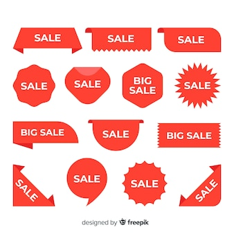 Projeto diverso para coleção de etiquetas de vendas