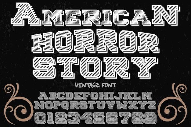 Projeto do alfabeto vintage americano