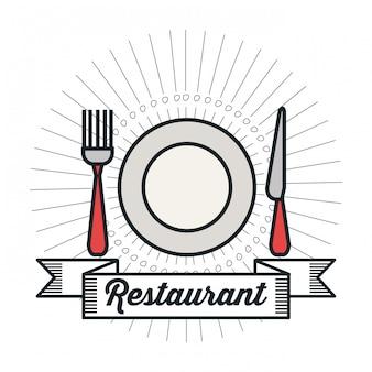 Projeto do alimento do menu do restaurante