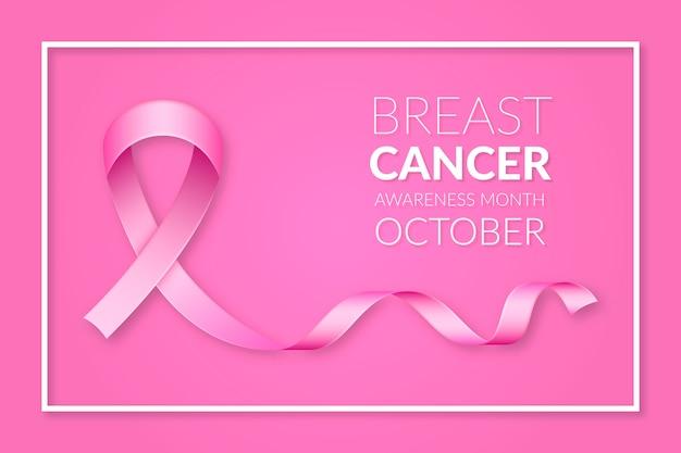 Projeto do banner do mês de conscientização do câncer de mama