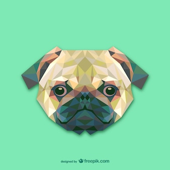 Projeto do cão de triângulo