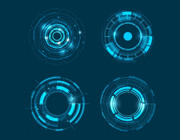 Projeto do círculo da tecnologia do ícone do vetor.