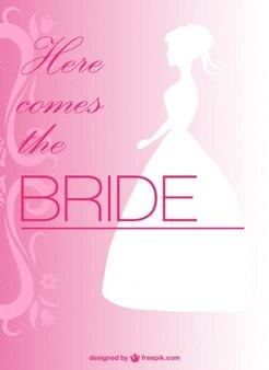 Projeto do convite de casamento grátis