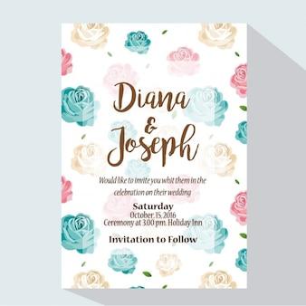 Projeto do convite do casamento colorido