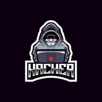 Projeto do emblema da equipe do logotipo anônimo do hacker