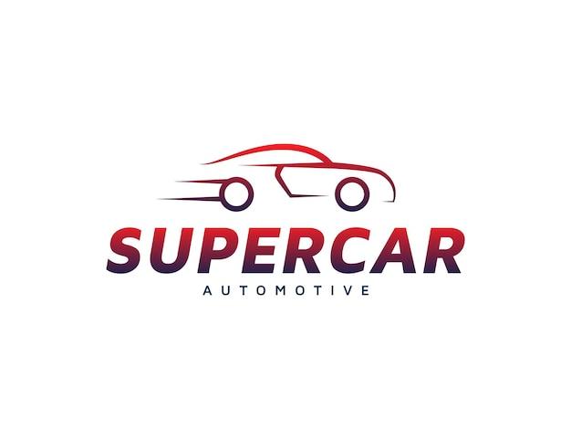 Projeto do emblema do logotipo do carro moderno