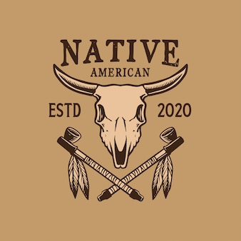 Projeto do emblema do nativo americano