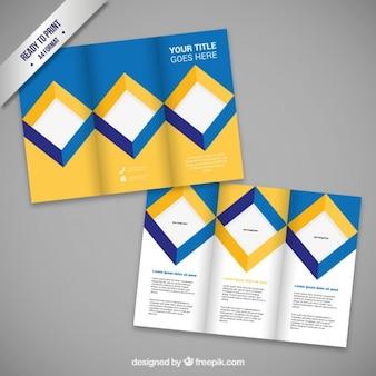 Projeto do folheto com quadrados