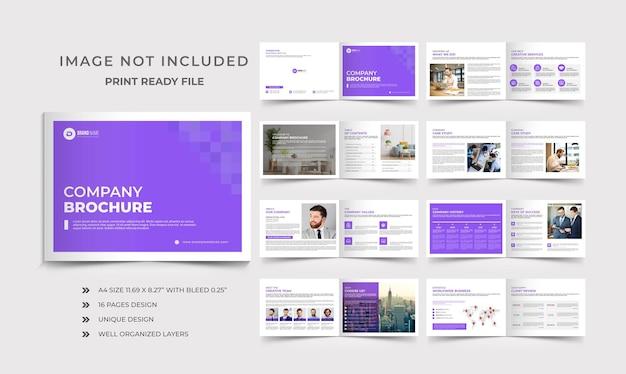 Projeto do folheto do perfil da empresa com paisagens