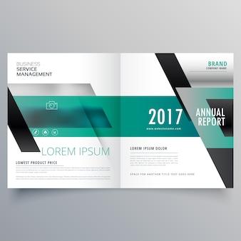 Projeto do folheto empresa bifold para o seu negócio