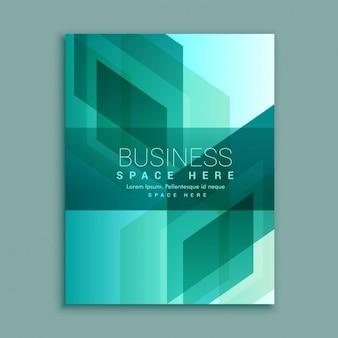Projeto do folheto negócios em formas abstratas modernas