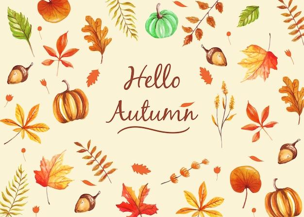 Projeto do fundo com um tema de outono.