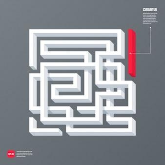 Projeto do fundo da forma de labirinto
