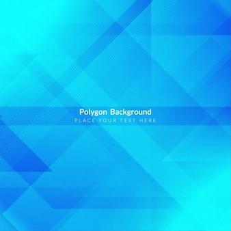 Projeto do fundo da poligonal azul brilhante
