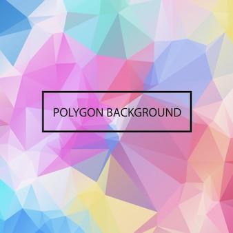 Projeto do fundo da poligonal colorido