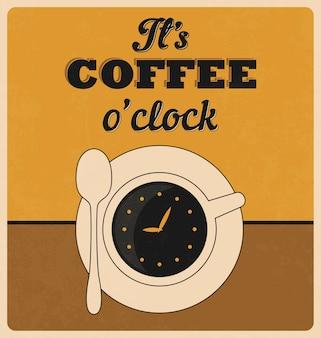Projeto do fundo do café