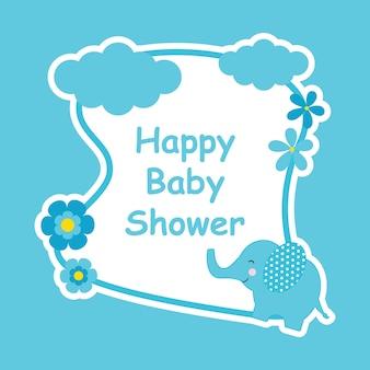 Projeto do fundo do chuveiro do bebê