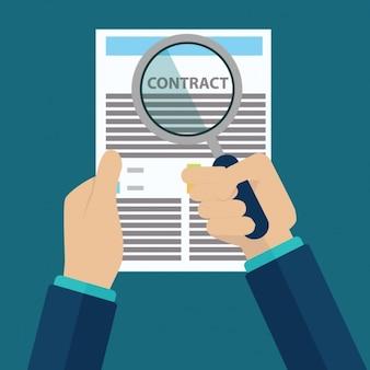 Projeto do fundo do contrato