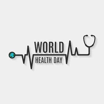 Projeto do fundo do dia da saúde