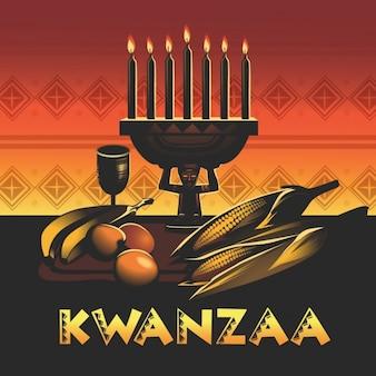 Projeto do fundo do kwanzaa
