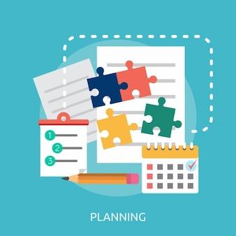 Projeto do fundo do planejamento