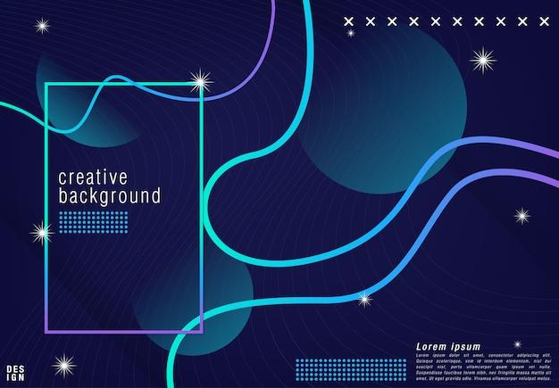 Projeto do fundo futurista. em forma azul com gradientes da moda