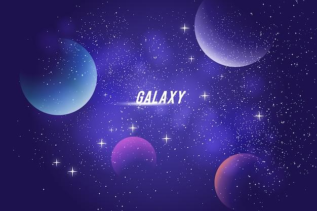 Projeto do fundo galáxia