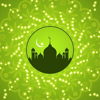 Projeto do fundo islâmico verde