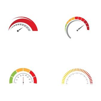 Projeto do ícone da ilustração vetorial do velocímetro
