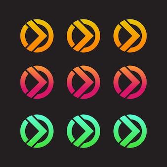Projeto do ícone de seta colorida