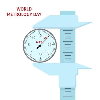 Projeto do ícone do logotipo do dia mundial da metrologia
