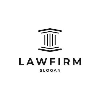 Projeto do ícone do pilar. design do logotipo do pilar criativo relacionado a advogado, escritório de advocacia, advogados, prédio, arquiteto ou universidade