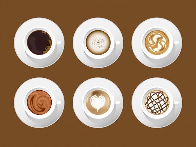 Projeto do latte da arte do café