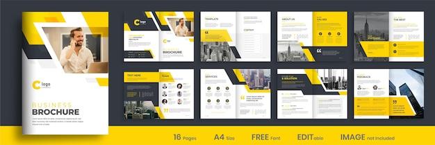 Projeto do layout do modelo do folheto do perfil da empresa