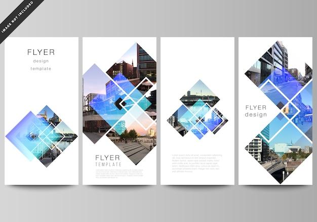 Projeto do layout editável do flyer, modelos de design do banner.
