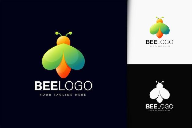 Projeto do logotipo da abelha com gradiente