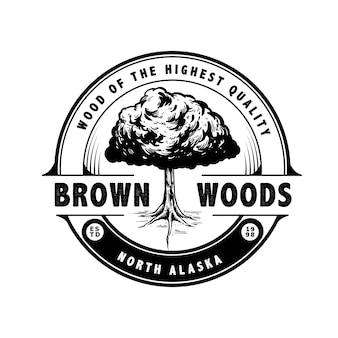 Projeto do logotipo da árvore da natureza