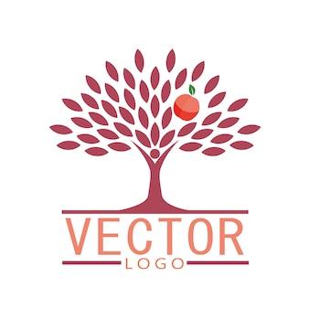 Projeto do logotipo da árvore de apple