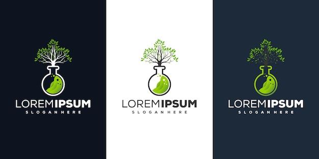 Projeto do logotipo da árvore do laboratório