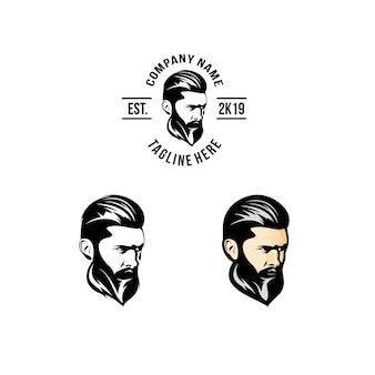 Projeto do logotipo da barba