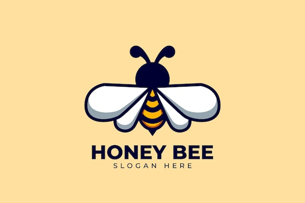 Projeto do logotipo da bee com conceito moderno e criativo