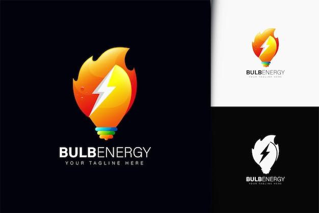 Projeto do logotipo da bulb energy com gradiente