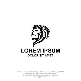Projeto do logotipo da cabeça do leão