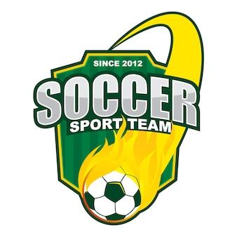 Projeto do logotipo da equipe da bola de fogo do futebol