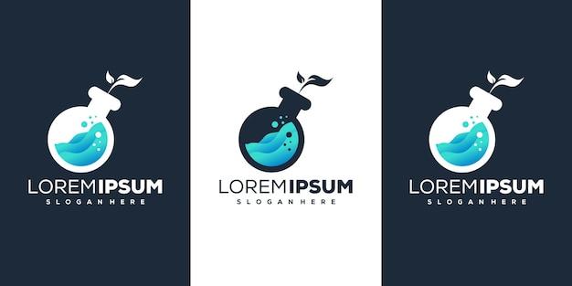 Projeto do logotipo da folha de laboratório
