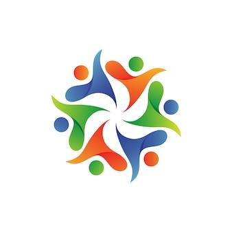 Projeto do logotipo da fundação do cuidado dos povos