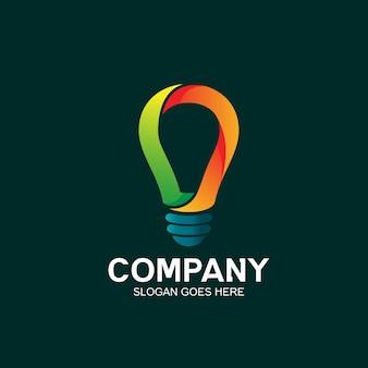 Projeto do logotipo da lâmpada bulbo