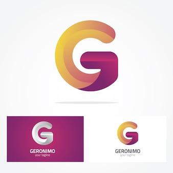 Projeto do logotipo da letra g