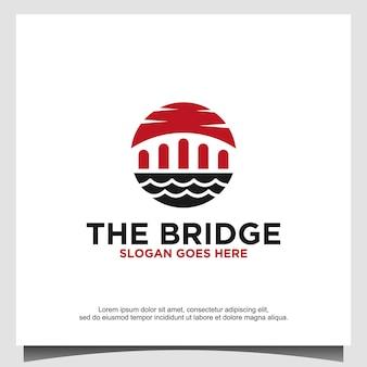 Projeto do logotipo da ponte projeto do ícone do vetor