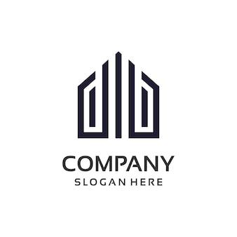 Projeto do logotipo da propriedade de bens imobiliários